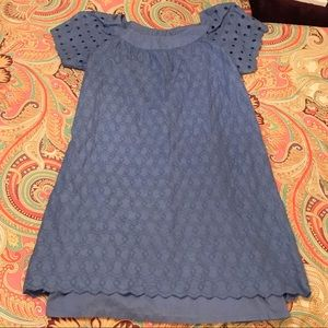 Light Blue Sheath Dress by Old Navy, w/ Embroidery